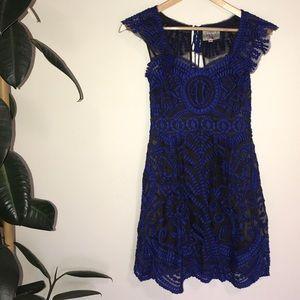 Anthropologie Yoana Baraschi blue lace dress